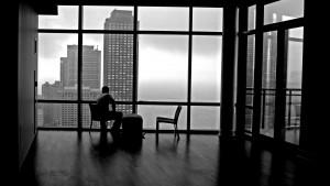 Men alone window